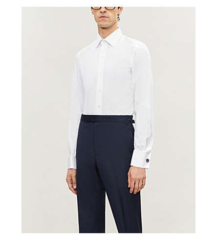 TOM FORD Regular-fit double-cuff cotton shirt (White