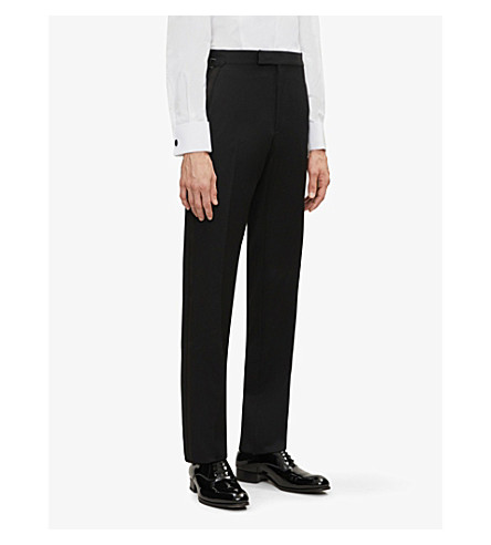 TOM FORD Brinsley-fit wool and mohair-blend trousers (Black