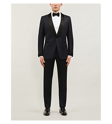 TOM FORD Classic-fit wool and mohair-blend tuxedo (Navy