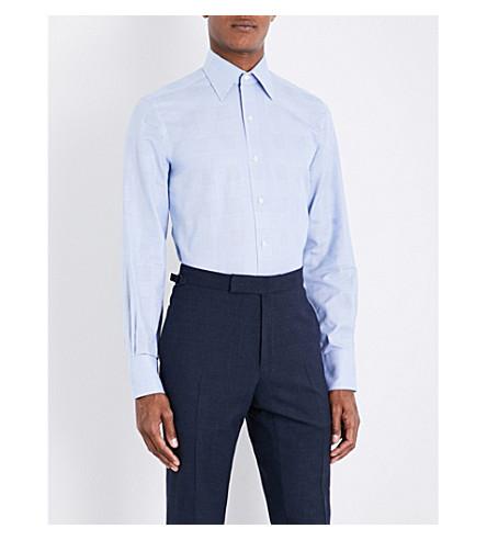 TOM FORD Plaid regular-fit cotton shirt (Blue