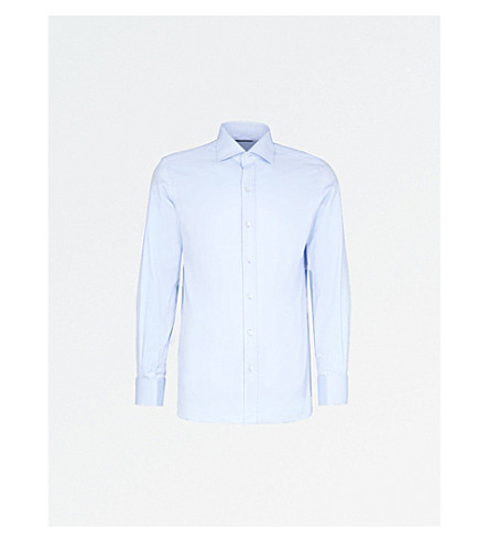 TOM FORD Regular-fit cotton-twill shirt (Sky
