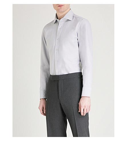 TOM FORD Slim-fit cotton shirt (Grey