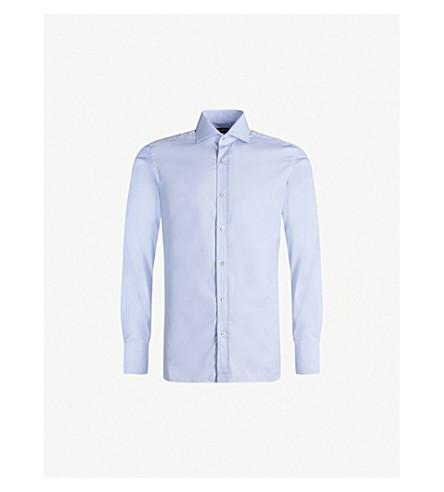 TOM FORD slim-fit cotton-poplin shirt (Blue