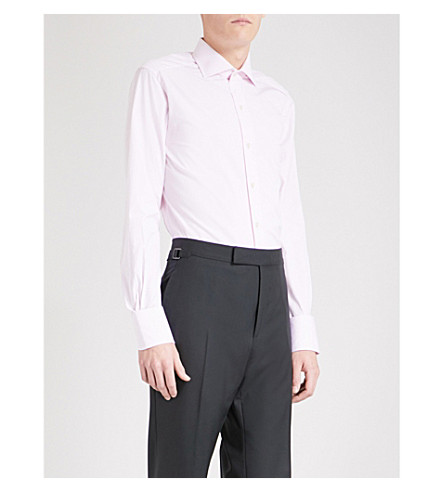 TOM FORD slim-fit cotton-poplin shirt (Pink