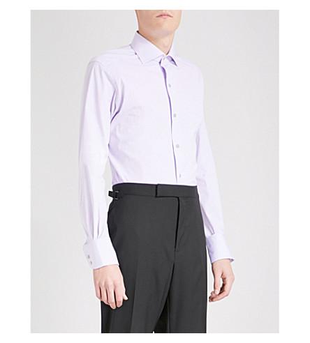 TOM FORD slim-fit cotton-poplin shirt (Lilac