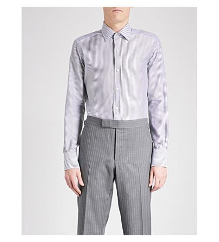 TOM FORD Striped slim-fit cotton shirt (Black