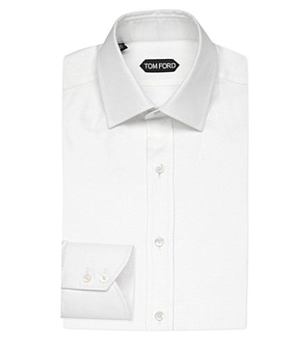 TOM FORD Classic oxford cotton shirt (White