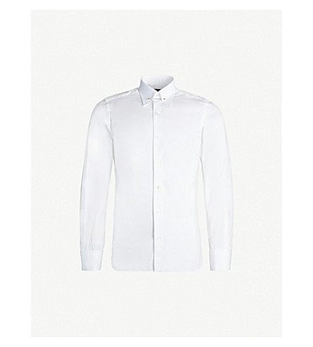 TOM FORD 常规版型棉府绸衬衫 (白色