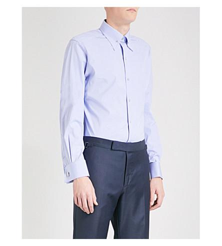 TOM FORD Slim-fit cotton shirt (Lt+blue