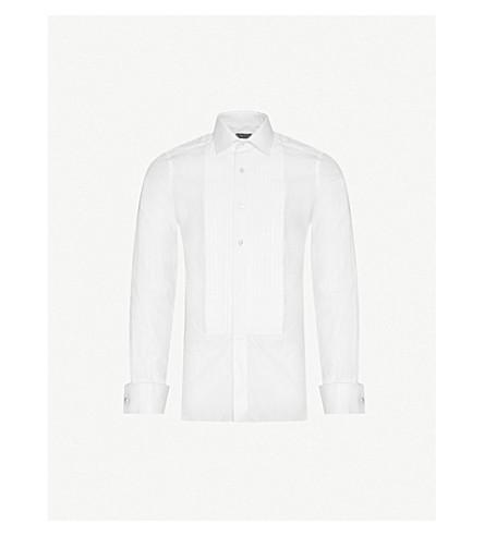 TOM FORD Slim-fit cotton evening shirt (White