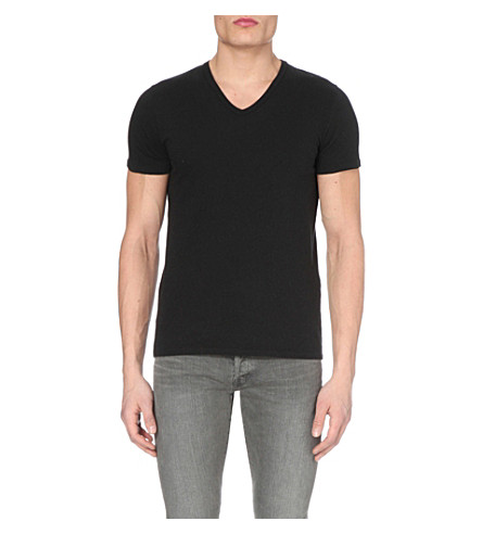 TOM FORD V-neck cotton-jersey t-shirt (Black