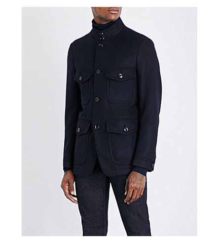 TOM FORD Slim-fit wool jacket (Navy