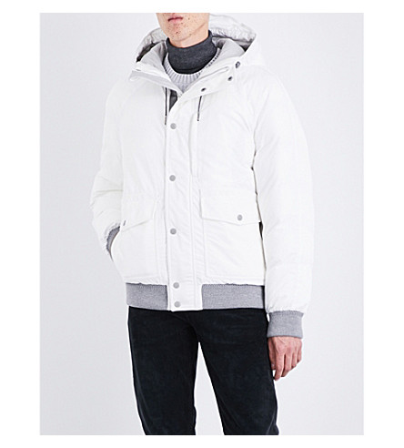TOM FORD Hooded shell-down jacket (White