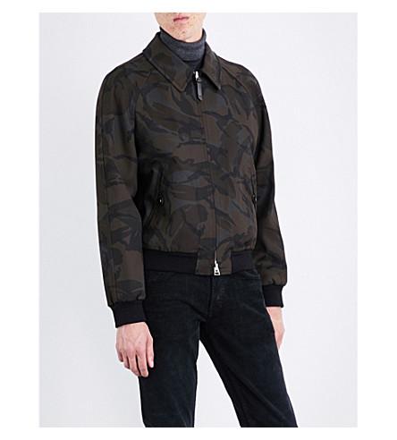 TOM FORD Camouflage-print twill jacket (Khaki