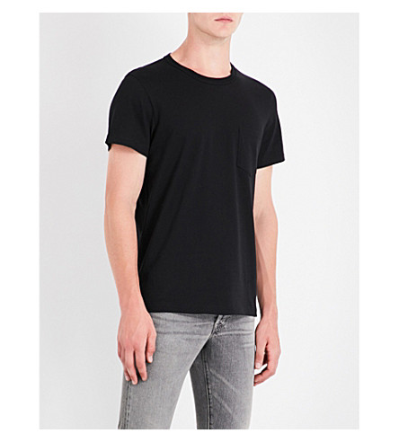 TOM FORD Pocket-detail cotton-jersey T-shirt (Black