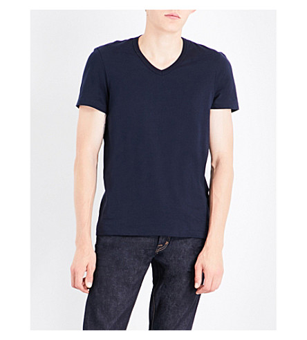 TOM FORD V-neck cotton-jersey T-shirt (Navy