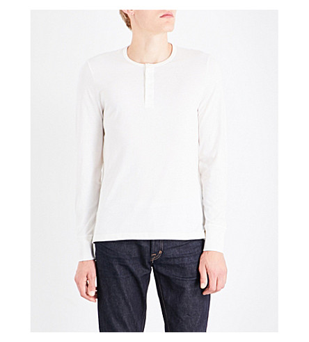 TOM FORD Crewneck cotton-jersey top (White