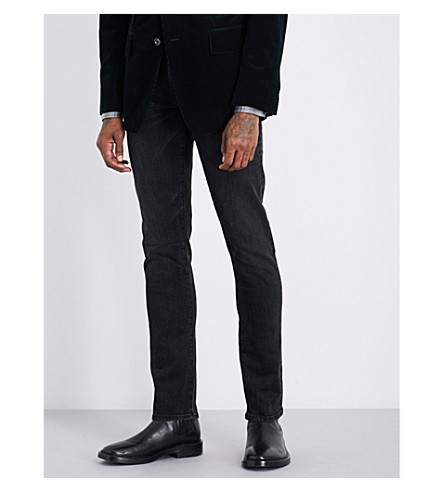 TOM FORD Slim-fit straight jeans (Washed+black