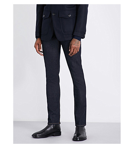 TOM FORD Slim-fit straight jeans (Indigo+blue