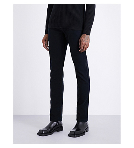 TOM FORD Slim-fit tapered cotton-moleskin trousers (Black