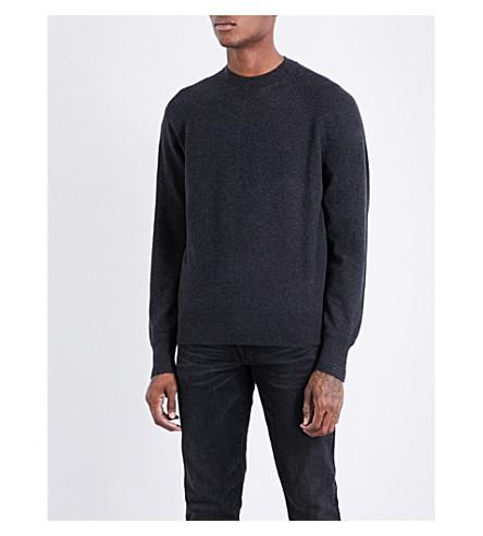 TOM FORD Raglan-sleeve cashmere jumper (Anthracite