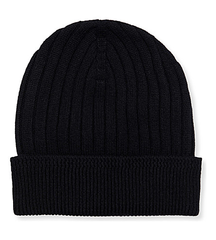 TOM FORD Ribbed cashmere beanie (Black