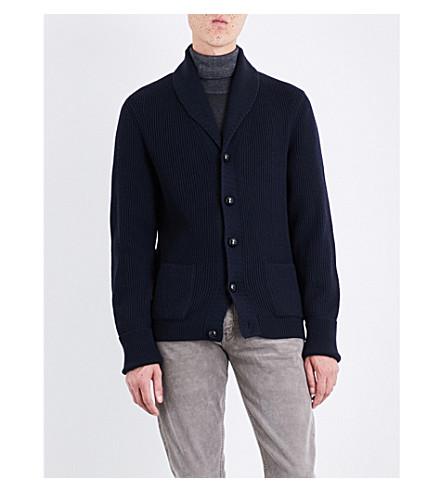 TOM FORD Mcqueen wool cardigan (Navy