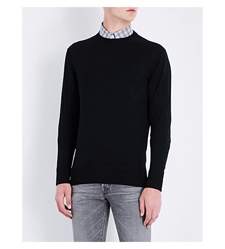 TOM FORD Crewneck ribbed wool jumper (Black