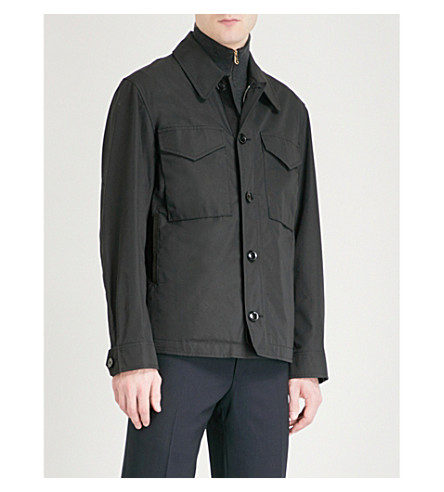 TOM FORD Pocket-detail cotton-blend field jacket (Black