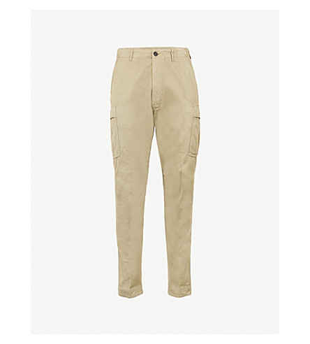 TOM FORD Regular-fit straight cotton trousers (Green
