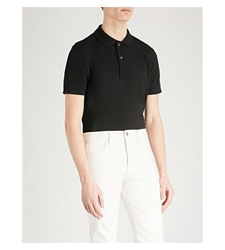 TOM FORD Cotton-piqué polo shirt (Black
