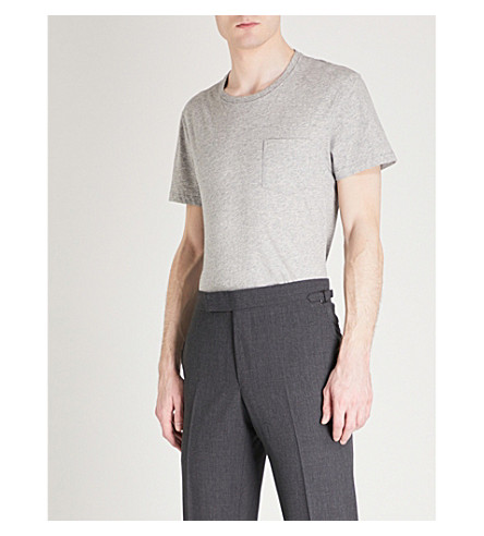 TOM FORD Pocket cotton-jersey T-shirt (Grey