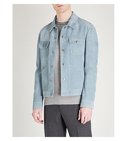 TOM FORD Western suede jacket (Light+blue