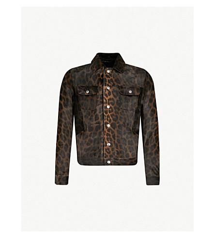 TOM FORD Leopard-print ponyskin jacket (Leopard