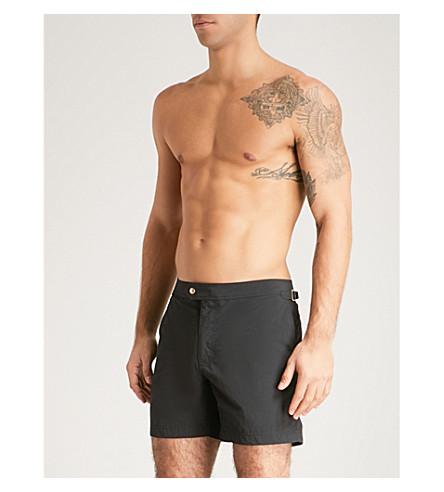 TOM FORD Mid-rise shell swim shorts (Black