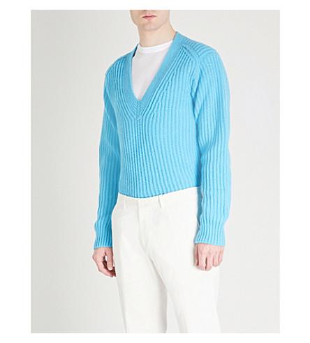 TOM FORD Fisherman wool jumper (Blue