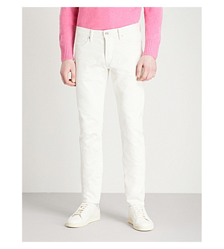 TOM FORD Slim-fit tapered jeans (Natural+white