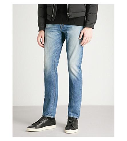 TOM FORD Faded slim-fit skinny jeans (Antique+indigo