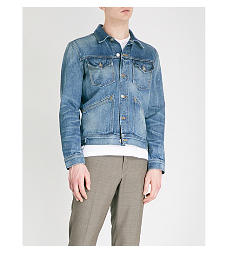 TOM FORD Washed denim jacket (Blue