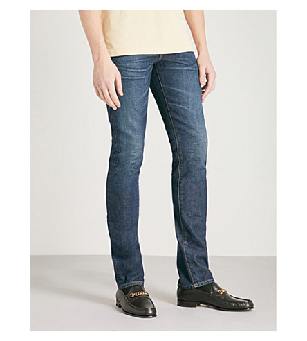 TOM FORD Faded slim-fit tapered jeans (Dark+indigo