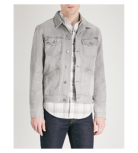 TOM FORD Faded wash denim jacket (Grey