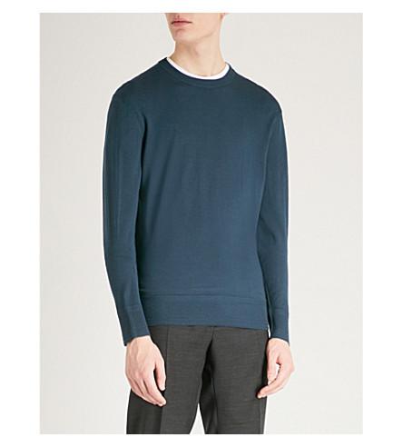 TOM FORD Crewneck wool jumper (Blue