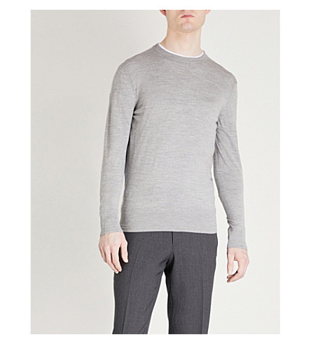 TOM FORD Crewneck wool jumper (Grey