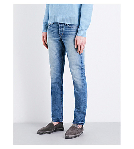 TOM FORD Slim-fit tapered jeans (Light+wash