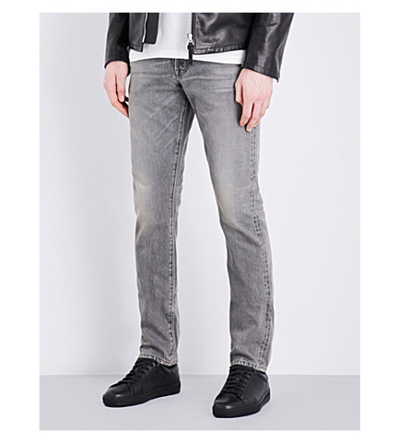 TOM FORD Slim-fit tapered jeans (Light+grey