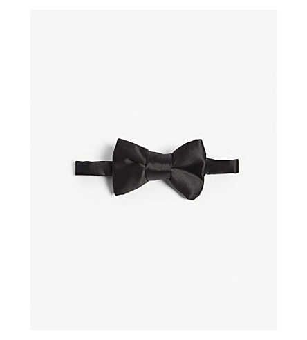 TOM FORD Solid satin bow tie (Black