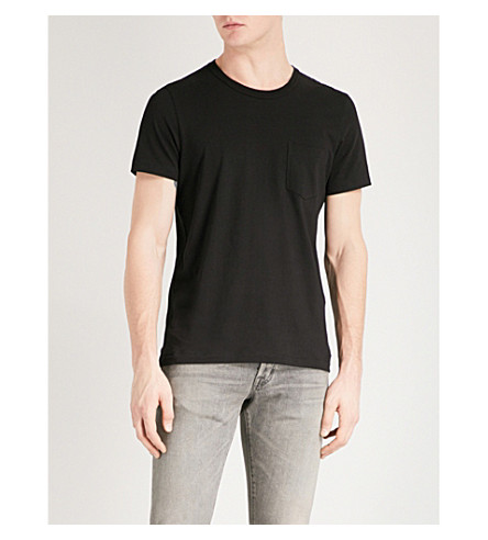TOM FORD Pocket-detailed crewneck cotton-jersey T-shirt (Black