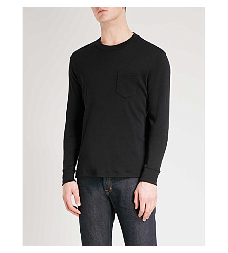 TOM FORD Pocket-detailed cashmere top (Black