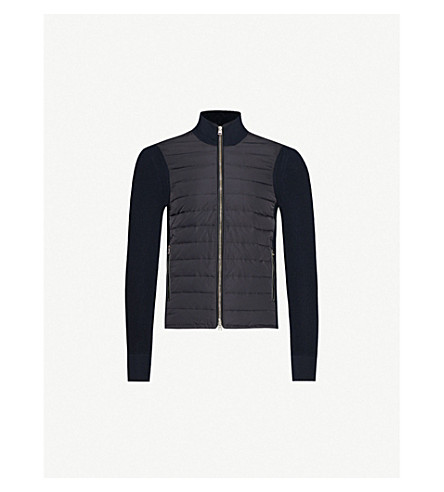 TOM FORD Quilted shell and wool jacket (Navy