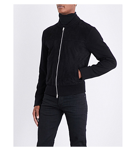 TOM FORD Suede-front wool jacket (Black